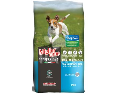 Miglior DOG Nutribene MINI losos a rýže pro malá plemena 1,5kg pes (70,-/kg)