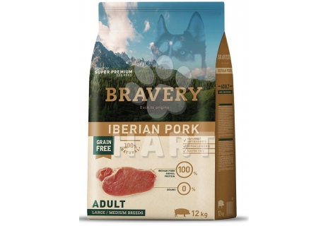 Bravery Dog   ADULT LARGE/MEDIUM Iberian pork (iberské prase)   12kg