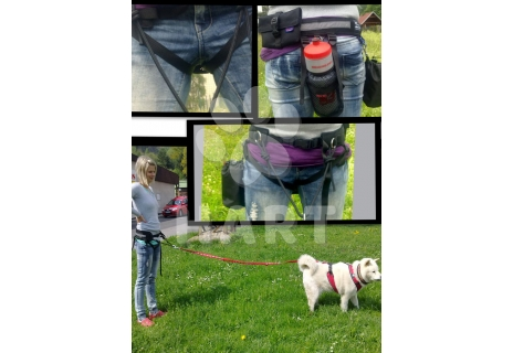 Multifunkční sedák vel.M(obv.pasu 65-75cm) pro sport se psem