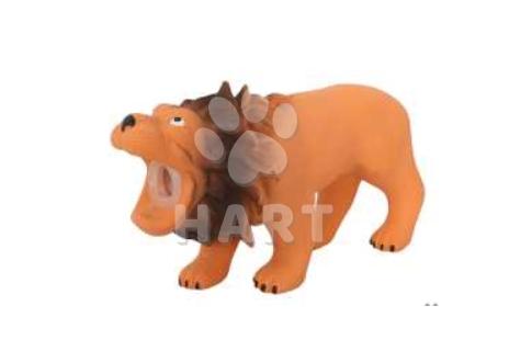 Latexový lev s pískadlem 16x5,5x9cm  1ks