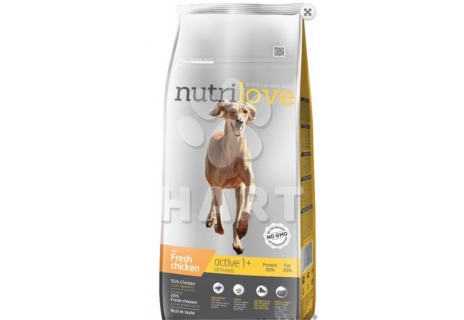 Nutrilove ACTIVE fresh kuřecí  12kg + dárek