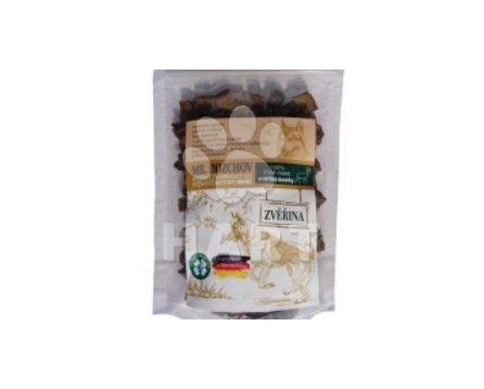 Sušené maso 100% , čistá ZVĚŘINA kostky - přírodní pamlsek pro psa 80g