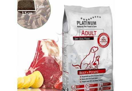 Platinum Natural food Beef & Potato - HOVĚZÍ maso s bramborem 10kg