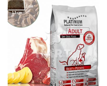 Platinum Natural food Beef & Potato - HOVĚZÍ maso s bramborem 10kg