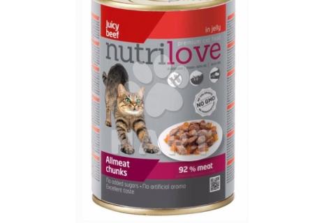 Nutrilove kočka konzerva hovězí maso v želé  400g