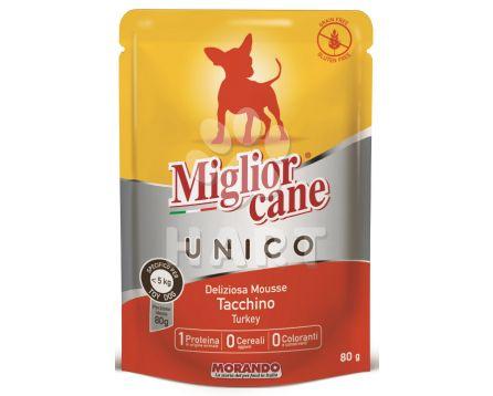 Kapsička Migliore Unico MINI kapsička krůtí 80g - pes