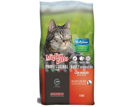 Miglior Nutribene Cat hovězí , bal. 1,5kg (1kg/70,-)