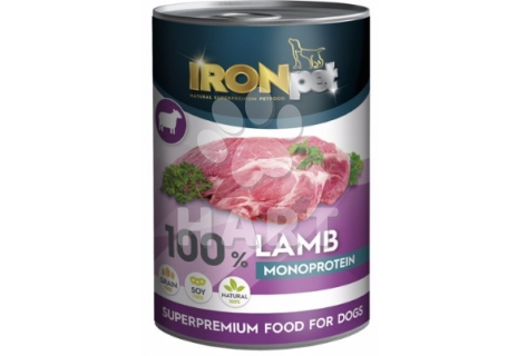 IRONpet LAMB 100% Monoprotein  Jehněčí  konzerva 400g