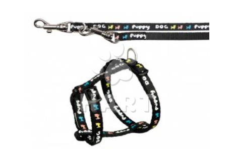 Puppy souprava postroj 23-34cm/8mm + vodítko 2,00m/8mm,  různé barvy