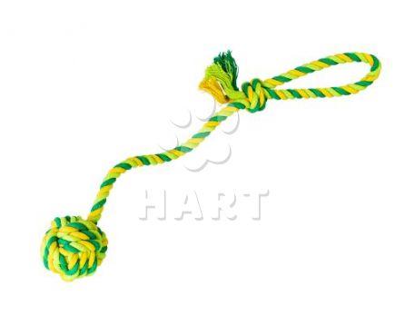 Vrhací lano s míčem HipHop bavlněný 41 cm 85 g