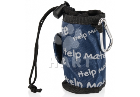 Nylonový zásobník + sáčky na trus 2x role / Help Mate textilní kapsička + 2x 20 sáčků