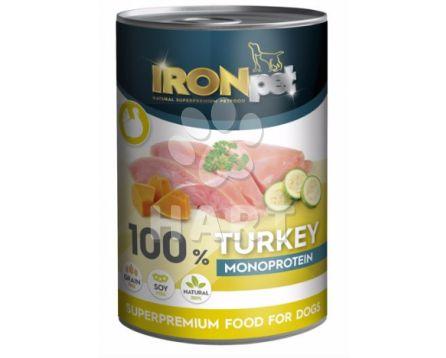 IRONpet TURKEY 100% Monoprotein  Krůtíí  konzerva 400g
