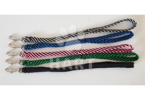 Vodítko krátké výcvikové s poutkem, ploché, zapletené  š.15mm /dl.50-60cm nylon