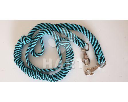 """""""SKI""""vodítko s tlumičem, zapletené, pro psy nad 10kg,dl.cca2,0m - 2karabiny"""