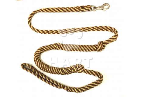 """SKI""vodítko s tlumičem, zapletené, pro psy nad 10kg,dl.cca1,8m - 1karabina  + ucho"