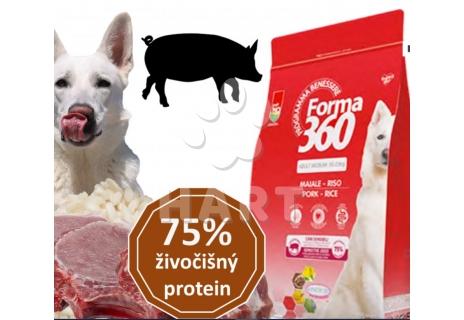 FORMA 360 dog adult vepřové + rýže medium 12kg