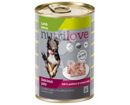 Nutrilove pes paté jehněčí(60%masa) 400g