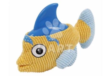 Plyšová hračka s termoplastickou gumou - Ryba 27x21cm