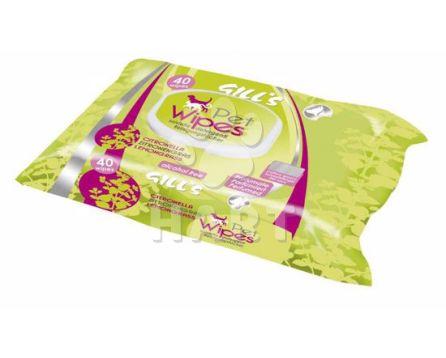 Gills vlhčené čistící ubrousky - Citronová tráva - 40ks