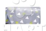 Poduška LUX Trianl šedý  č. 2, velikost 90×65 cm 1ks