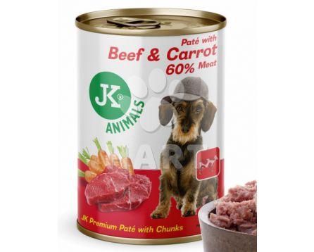 Hovězí konzerva(94% masa a vývaru) s mrkví(5% mrkve) 400g