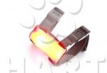 Světlo - svítící návlek na cokoli / obojek, postroj, nohu, vodítko, .../, oranžový    1ks