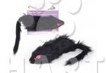 Myš sametová vel.6cm, pískací