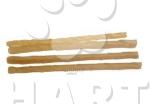 Tyčinka z buvolí kůže kroucená přírodní 12,5 cmx4-6mm 100ks-bal.