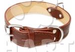 Obojek kožený typ HERRY š.35mm, dl.55cm