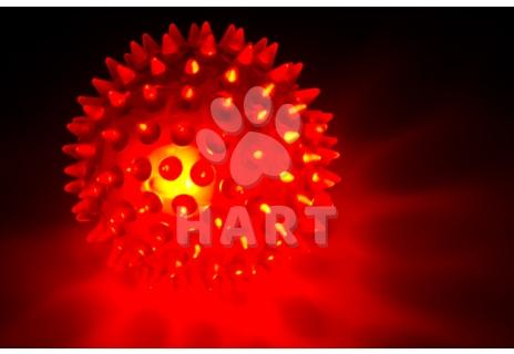 Plovoucí, blikající LED míček z odolné termoplastické pryže prům.8cm