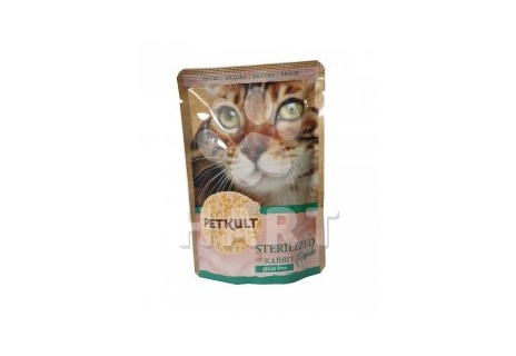 Petkult Cat Kapsička Sterilized Rabbit(králík, 55% masa)   100g