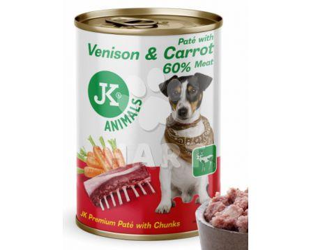 Zvěřina - konzerva(94% masa a vývaru) s mrkví(5% mrkve) 400g