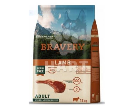 Bravery Dog   ADULT  LARGE/MEDIUM  LAMB  (jehněčí)  12kg