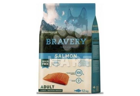 Bravery Dog   ADULT  LARGE/MEDIUM  SALMON  (losos)  12kg + 3kg ZDARMA