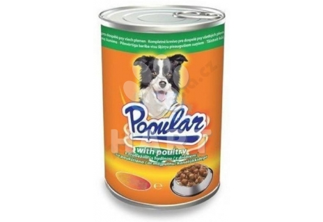 Popular Dog konzerva drůbeží kousky v omáčce 415g