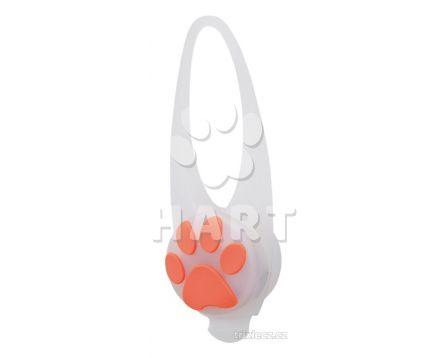Flasher blikačka pro psy 2,4 cm / 8 cm bílá/barevná tlapka-různé barvy  1ks