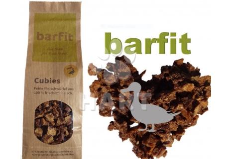 Sušené maso 100% , BARFIT sušené kostky masa 100% clear - kachna 200g