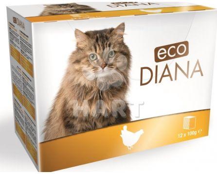 Kapsičky -sada 12kapsiček - Diana eco kapsičky kuřecí kousky v omáčce 12x100g