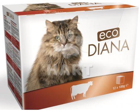 Kapsičky -sada 12kapsiček - Diana eco kapsičky hovězí kousky v omáčce 12x100g