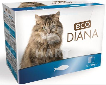 Kapsičky -sada 12kapsiček - Diana eco kapsičky rybí kousky v omáčce 12x100g