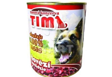 Konzerva TIM dog hovězí(100%)    1200g
