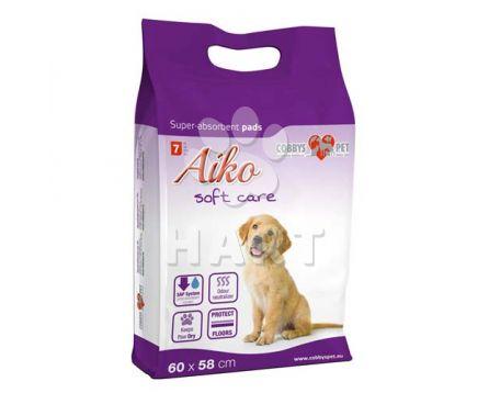 PLENY/ podložky AIKO Soft Care  vel.60x58cm  7ks    1bal.