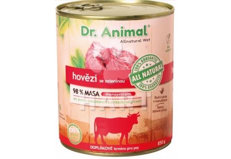 Dr. Animal konzerva hovězí(98% masa)  850g