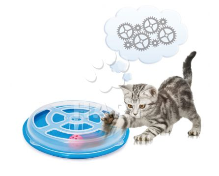 Hračka LABYRINT VERTIGO pro kočky plastová prům.29cm x výška 5cm